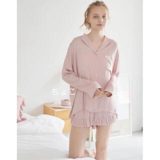 gelato pique - 新品♡定価以下♡ジェラートピケ サテンシャツ&ショートパンツ フリル ピンク