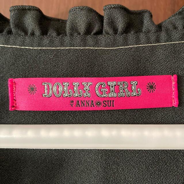 DOLLY GIRL BY ANNA SUI(ドーリーガールバイアナスイ)のアナスイ DOLLYGIRL ブラウス ブラック 黒 刺繍 レディース ブランド レディースのトップス(シャツ/ブラウス(長袖/七分))の商品写真
