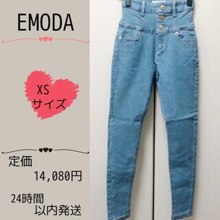 EMODA - 【新品】EMODA エモダ ELDER NUDE ハイウエストデニム ブルー