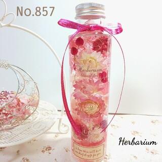 ハーバリウム No.857 ピンクガーデン 円柱瓶(その他)