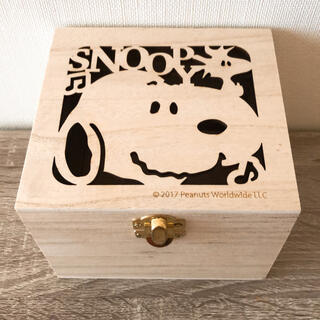 ピーナッツ(PEANUTS)のスヌーピー 木箱  くりぬき 小物入れ SNOOPY(小物入れ)