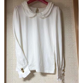 トゥララ(TRALALA)の新品未使用 トゥララ TRALALA ブラウス風丸襟カットソー フリル(カットソー(長袖/七分))