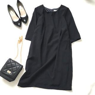 ショコラフィネローブ(chocol raffine robe)のショコラフィネローブ ワンピース黒フォーマル(ひざ丈ワンピース)