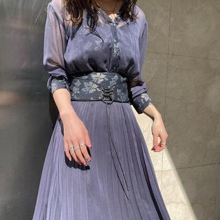 Ameri VINTAGE - AMERI CLAIRE JACQUARD PLEATS DRESS