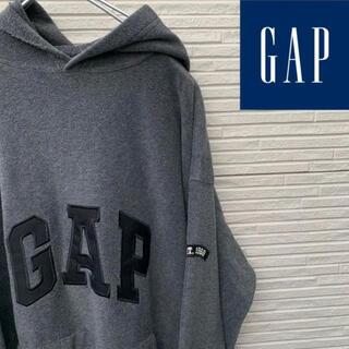 ギャップ(GAP)のGAP フリースパーカー 90s 紺タグ オールドギャップ デカロゴ(パーカー)