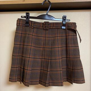 ザラ(ZARA)の新品♡ZARA正規品♡ベルト付きチェックプリーツスカート♡Lサイズ/ザラ(ミニスカート)