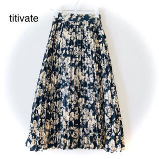 titivate - ティティベイト (titivate) プリーツロングスカート