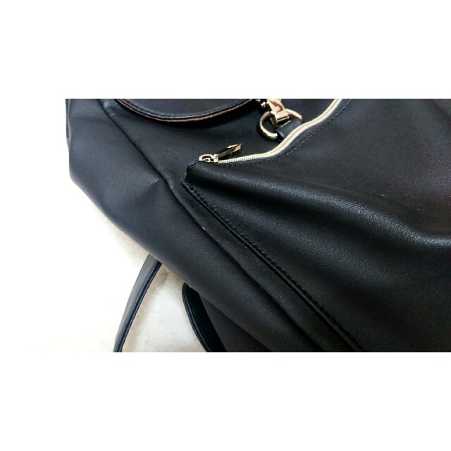 Rope' Picnic(ロペピクニック)のリュック ブラック バックパック ROPE' PICNIC レディースのバッグ(リュック/バックパック)の商品写真