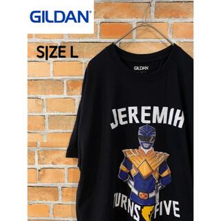 ギルタン(GILDAN)の【GILDAN】 Tシャツ L アメリカ古着 戦隊ヒーロー Turns Five(Tシャツ/カットソー(半袖/袖なし))