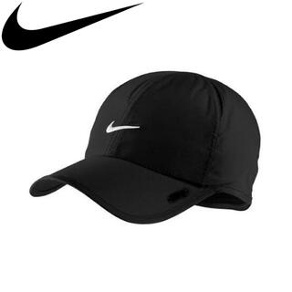 NIKE - NIKE ナイキ ランニングキャップ 帽子 フェザーライト テニス 黒