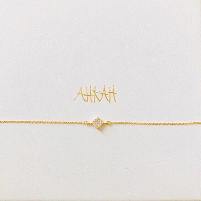 AHKAH(アーカー)のAHKAH アーカー パヴェダイヤ K18YG ブレスレット 販売証明書アリ レディースのアクセサリー(ブレスレット/バングル)の商品写真