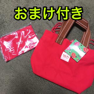 カルディ(KALDI)の新品 カルディ 帆布トートバッグ ポーチ 2点 赤 レッド(トートバッグ)