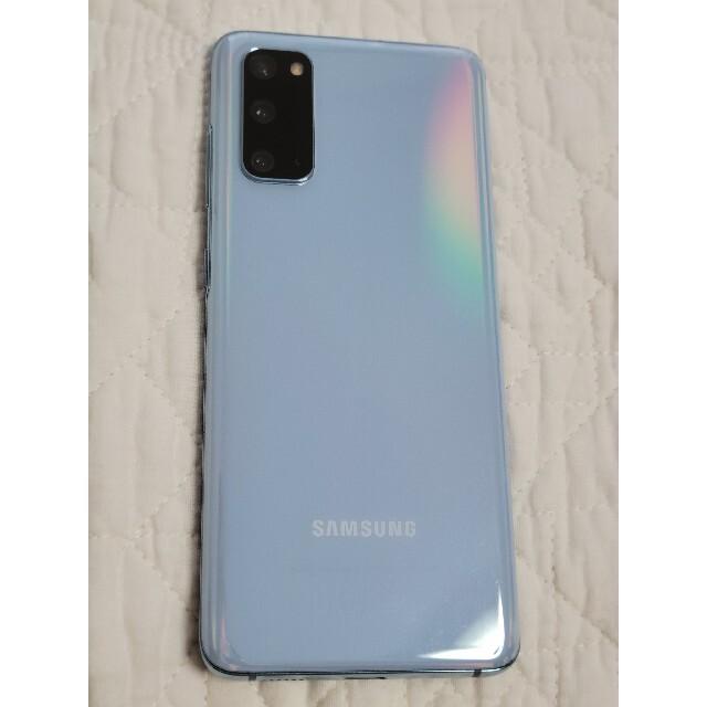 Galaxy(ギャラクシー)のGalaxy S20 5G G981B 128GB blue海外版デュアルシム スマホ/家電/カメラのスマートフォン/携帯電話(スマートフォン本体)の商品写真