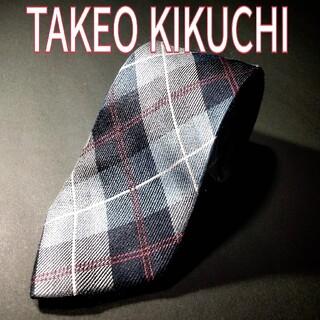 タケオキクチ(TAKEO KIKUCHI)のTAKEO KIKUCHI チェック ネクタイ ブルー(ネクタイ)