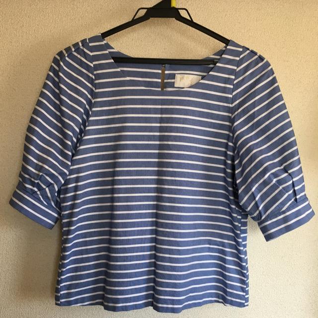 anySiS(エニィスィス)のanysis 白トップス&アニエス(ブルー) レディースのトップス(シャツ/ブラウス(半袖/袖なし))の商品写真