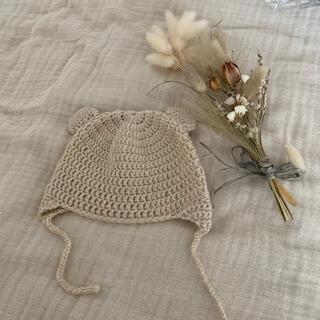 プティマイン(petit main)の韓国こども服♦︎くまちゃん耳帽子baby撮影ニューボーン(帽子)