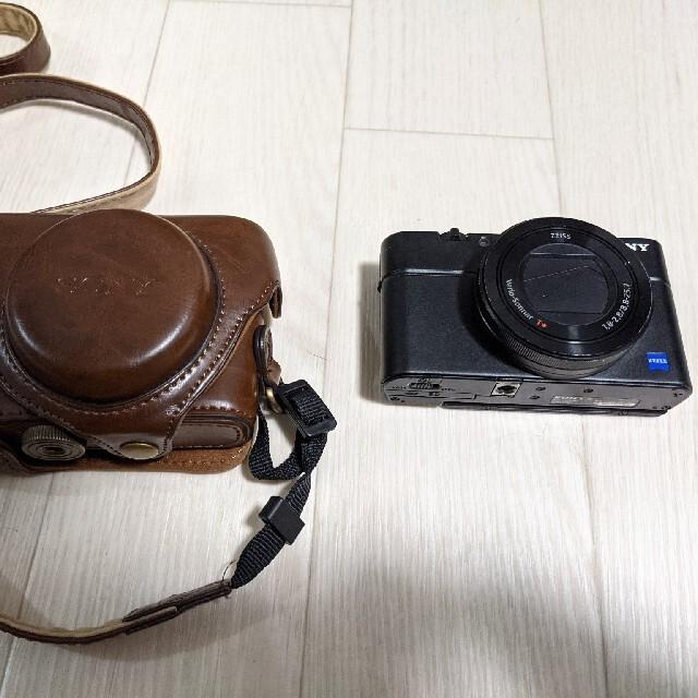 SONY DSC-RX100M3 専用ケース付 スマホ/家電/カメラのカメラ(コンパクトデジタルカメラ)の商品写真