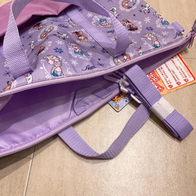 Disney(ディズニー)の新品未使用品 アナ雪トートバッグレッスンバッグおけいこバッグ  キッズ/ベビー/マタニティのこども用バッグ(レッスンバッグ)の商品写真