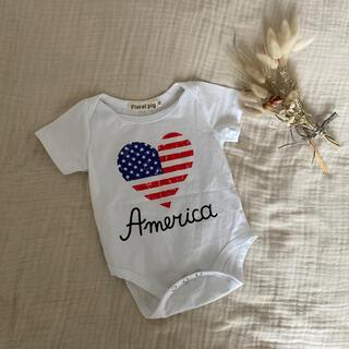 新品American星条旗柄ロンパース(ロンパース)