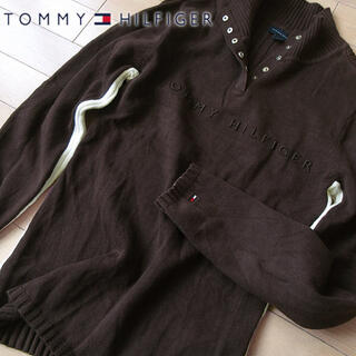 TOMMY HILFIGER - 美品 L トミーヒルフィガー レディース ニット ブラウン
