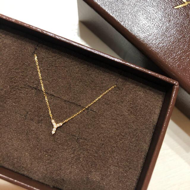 ete(エテ)のエテ イニシャル Y ネックレス k18  イエロー  YG ダイヤ レディースのアクセサリー(ネックレス)の商品写真