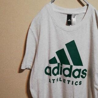 アディダス(adidas)のadidas アディダス 半袖 Tシャツ グレー ロゴ入り(Tシャツ/カットソー(半袖/袖なし))