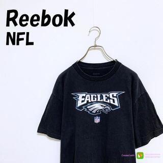 リーボック(Reebok)のX-419 Reebok NFL リーボック Tシャツ 半袖 ロゴ L 黒(Tシャツ/カットソー(半袖/袖なし))