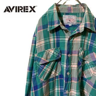 AVIREX - ★AVIREX アヴィレックス コットンシャツ チェック グリーン 緑