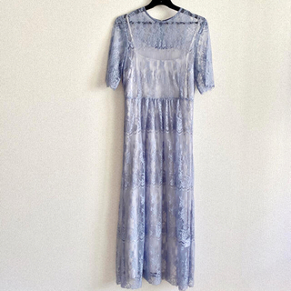 エヌナチュラルビューティーベーシック(N.Natural beauty basic)のドレス ワンピース レース 総レースワンピース 結婚式 二次会 ロングワンピース(ミディアムドレス)