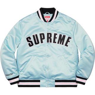 Supreme - supreme  Satin Varsity Jacket Mサイズ blue