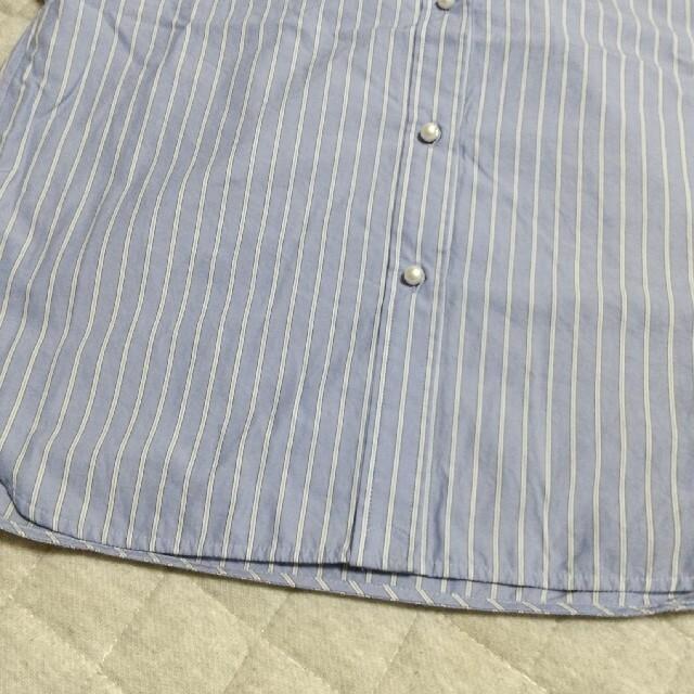 Spick and Span(スピックアンドスパン)のSpick&Span パールボタンギャザースリーブシャツ レディースのトップス(シャツ/ブラウス(長袖/七分))の商品写真