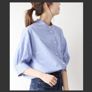Spick and Span - Spick&Span パールボタンギャザースリーブシャツ