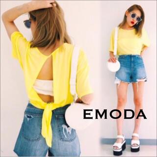 EMODA - EMODA バックドレープ Tシャツ♡ムルーア ジーナシス GYDA SLY