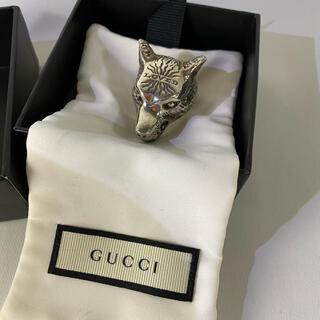 Gucci - GUCCI グッチ 正規品 ウルフヘッド レア ラージサイズ リング 21号