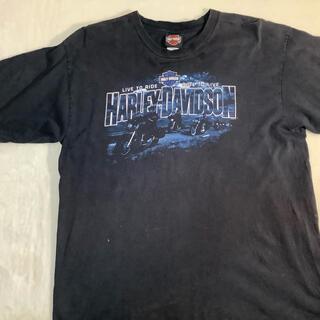 Harley Davidson - HARLEY-DAVIDSON  両面ビッグプリント ブラック ブラック  XL