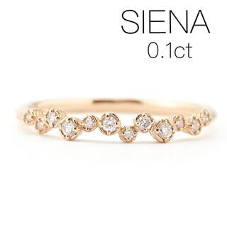 agete - ◆現行品◆【SIENA】K10YG ダイヤモンドリング/重なりリング/0.1
