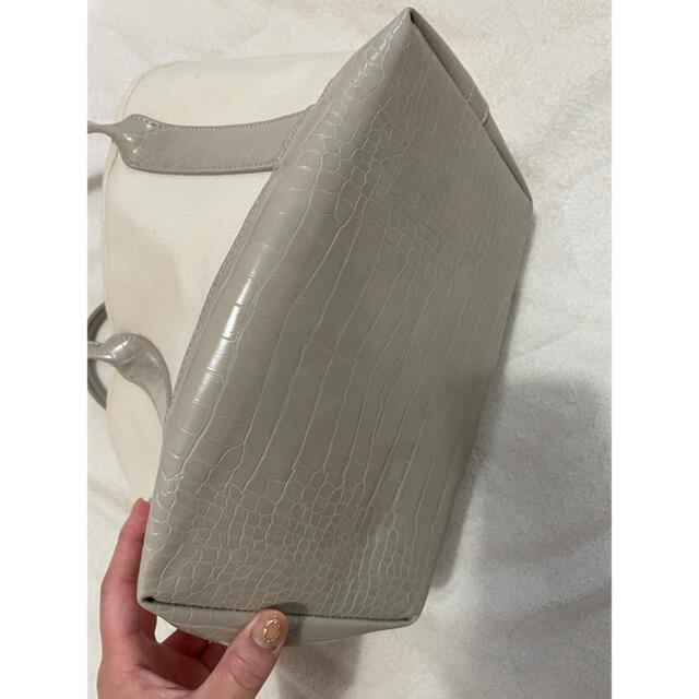 トートバッグ 白  レディースのバッグ(トートバッグ)の商品写真