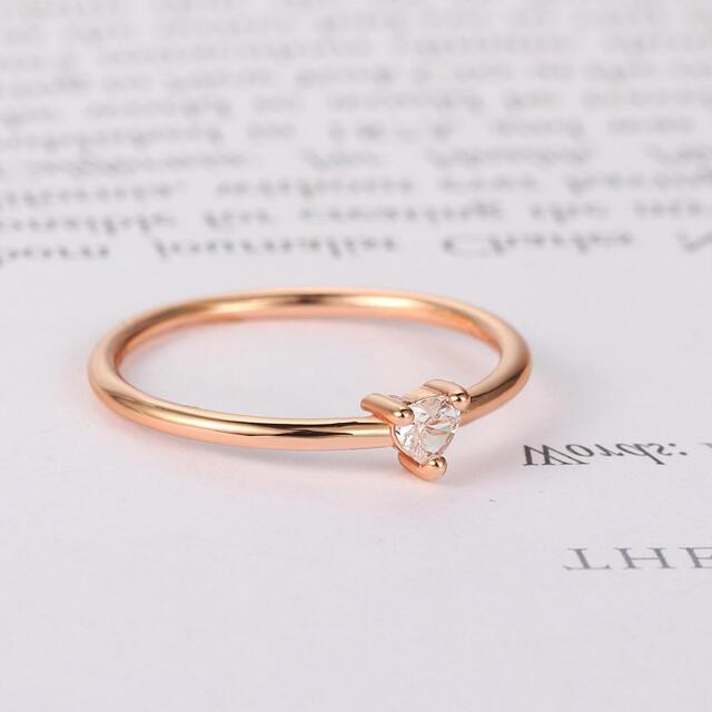 21号 キュービックジルコニア リング ハート k18コーディング 指輪 レディースのアクセサリー(リング(指輪))の商品写真