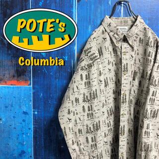 Columbia - 【コロンビア】アニマル柄シカ柄ロゴタグレトロ総柄シャツ