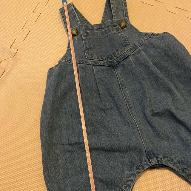 韓国子供服/baby/デニムサロペット キッズ/ベビー/マタニティのベビー服(~85cm)(ロンパース)の商品写真