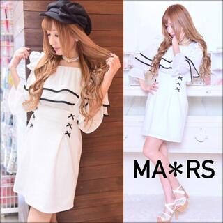 マーズ(MA*RS)のMARS アメーバマーズ♡プチリボン ジャンスカ ジャンパースカート 2WAY(ミニスカート)