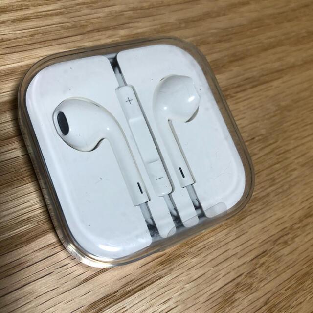 Apple(アップル)の新品 iPhone 有線 純正イヤホン プラグ端子 スマホ/家電/カメラのオーディオ機器(ヘッドフォン/イヤフォン)の商品写真