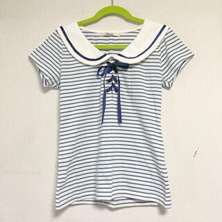 トゥララ(TRALALA)のTRALALA Tシャツ 半袖 マリンルック リボン(Tシャツ(半袖/袖なし))