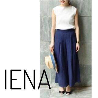 IENA - IENA×Naoko Tsuji リネンパナマ パンツ
