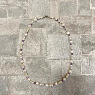 ジエダ(Jieda)の淡水パール パールネックレス ヴィンテージ  パープル 真珠 パール 90s (ネックレス)