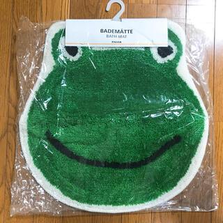【新品】バスマット マット お風呂 トイレ ラグ カエル グッズ 雑貨 子供部屋(バスマット)