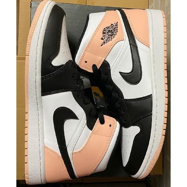 NIKE(ナイキ)のNIKE AIR JORDAN 1 MID CRIMSON TINT カスタム メンズの靴/シューズ(スニーカー)の商品写真