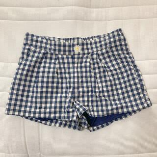 トゥララ(TRALALA)のショートパンツ チェック 紺 ワンポイント 裏地あり ポケットあり(ショートパンツ)
