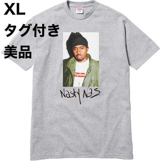シュプリーム(Supreme)の美品 Supreme Nas Tee グレー XL タグ付き フォトT(Tシャツ/カットソー(半袖/袖なし))