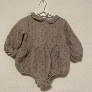 フタフタ(futafuta)の韓国子供服 さくらんぼ柄🍒ロンパース 80cm(ロンパース)